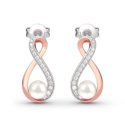 Earrings Luxury Eardrop 925 Silver Pearl Ear Stud Hook Two Tone Earrings Wedding