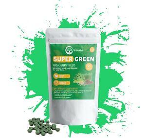 SUPER-verdi-Corpo-Disintossicante-completo-di-nutrienti-super-alimento-60-Compresse-Benessere
