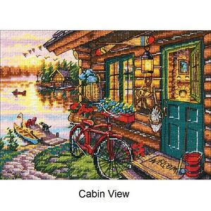 Details about Dimensions Cross Stitch Kit - Cabin View
