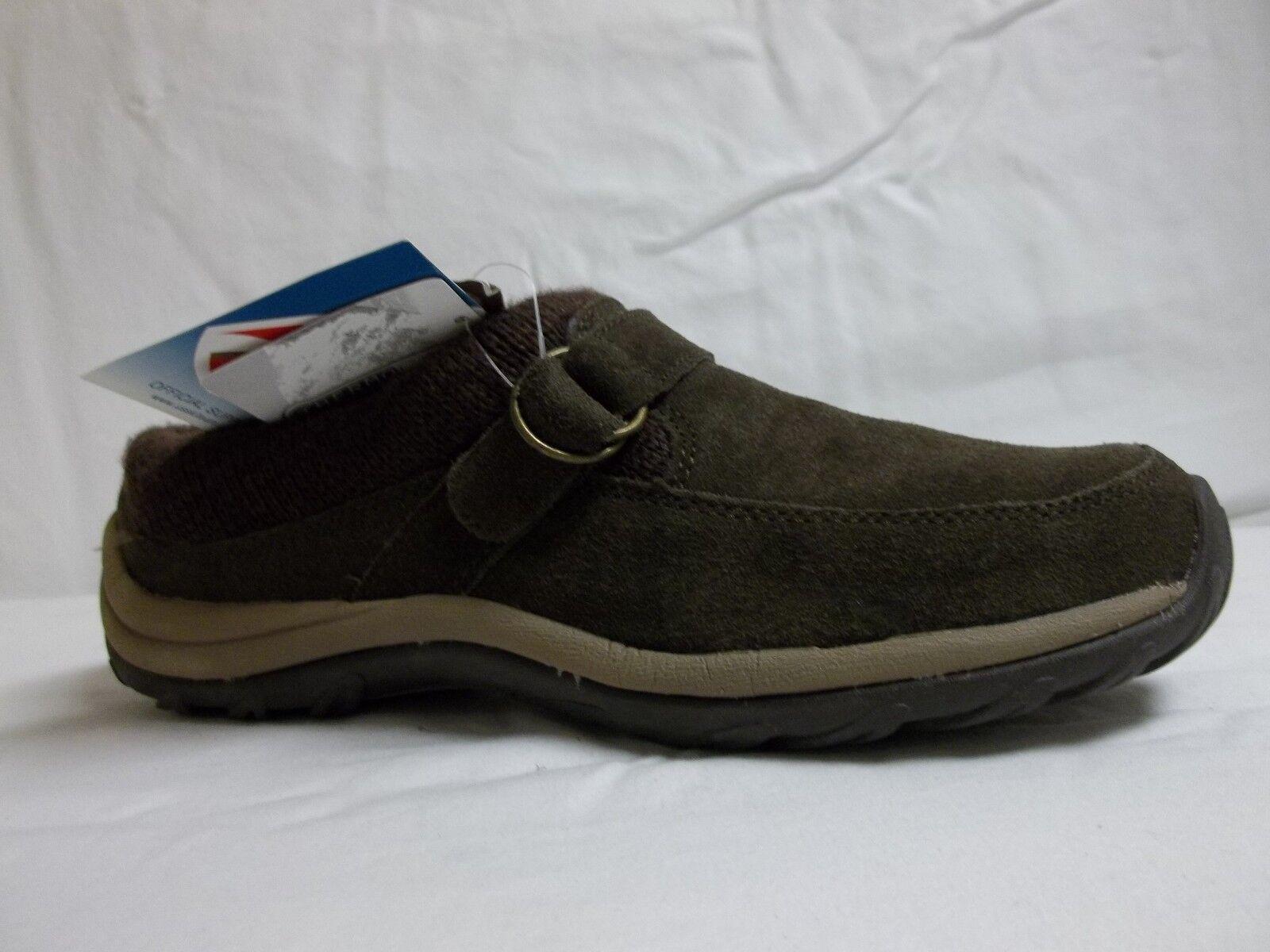 Khombu Größe 7.5 M Cloud2 Braun Leder Loafers NEU Damenschuhe Schuhes NWOB