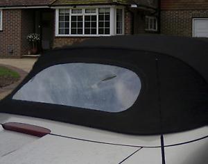 Coche Clásico campana de cristal de vinilo de porche plástico Convertible posterior ventana