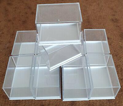 59 x 41 x 39 mm weiss 10 Kleinstufendosen für Mineralien