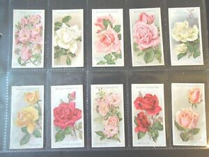 1926-Wills-ROSES-flowers-garden-plants-Tobacco-cards-complete-EX-50-card-set