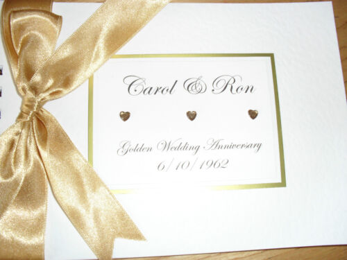 Wedding Anniversary Guest Book Personalised Album