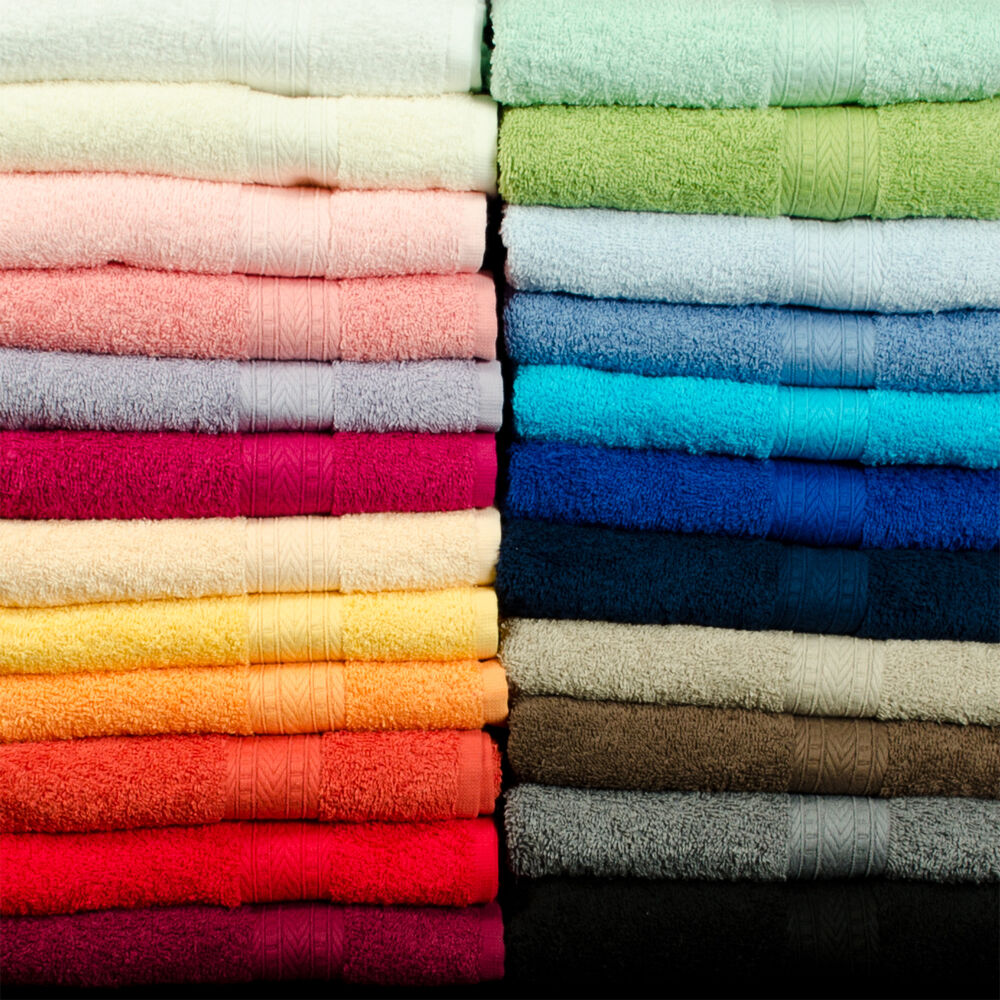 12 teiliges Set Duschtuch Handtuch Waschlappen NEU freie Farbwahl TOP Badezimmer