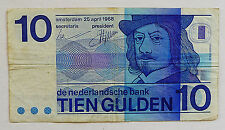 ANCIEN BILLET DE BANQUE / 10 GULDEN / BANQUE DES PAYS BAS