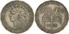 Guadeloupe: 50 Centimes copper-nickel 1921 - XF