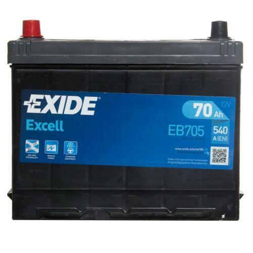 Excell 031 Car Battery 3 Years Warranty 70Ah 540cca 12V Electrical - Exide EB705