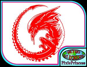 Alien Aliens Xenomorph S Vinyl Huge Sticker Wall Art Poster AVP Predator Decal