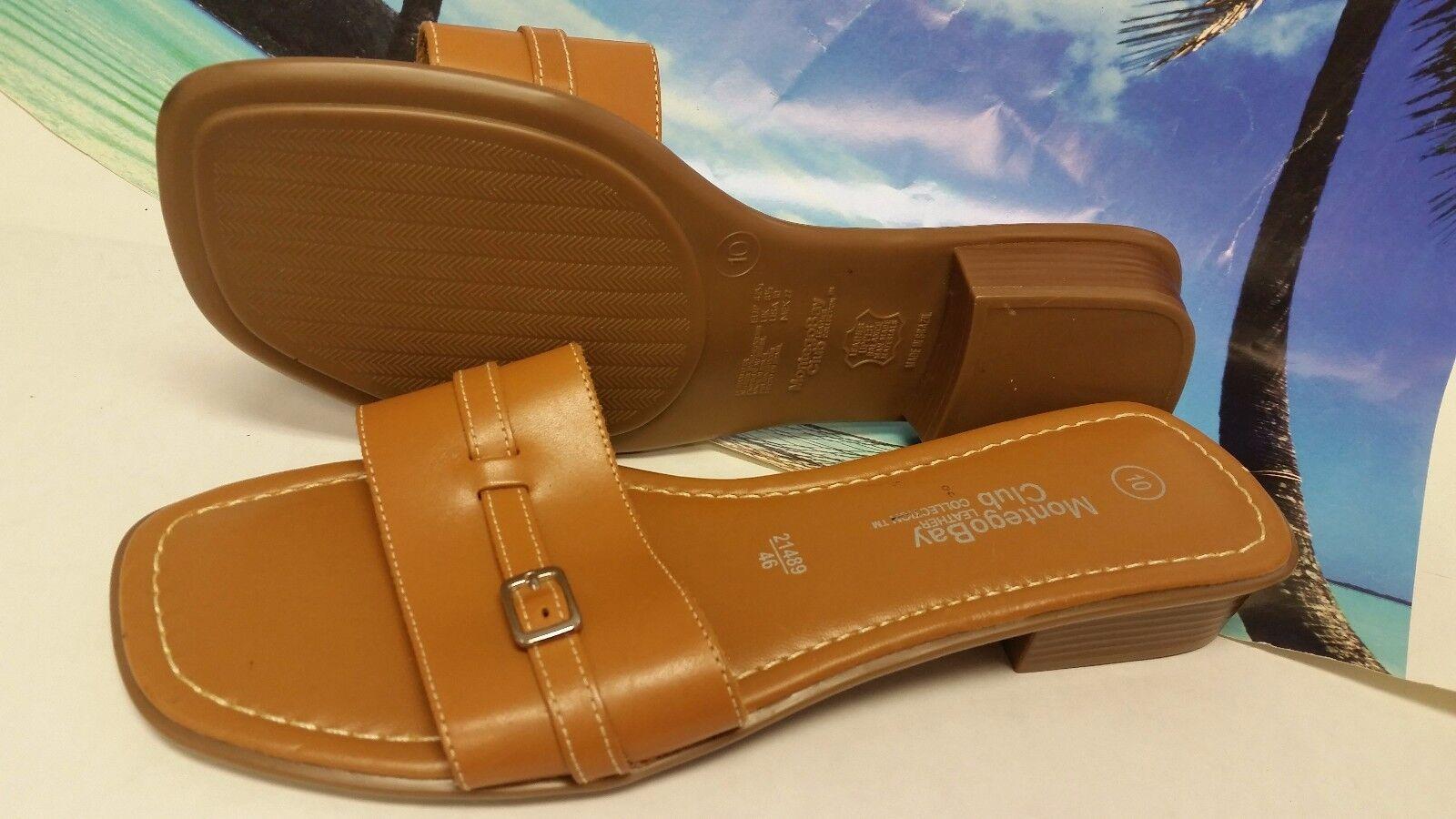 WOMEN'S MONTEGO BAY CLUB Open Toe Brown Sandals SZ 10 EUC!!