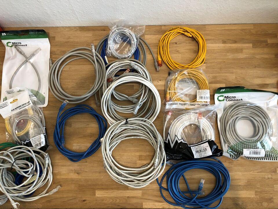 Netværkskabel, Internetkabel RJ-45, 1-10 m.