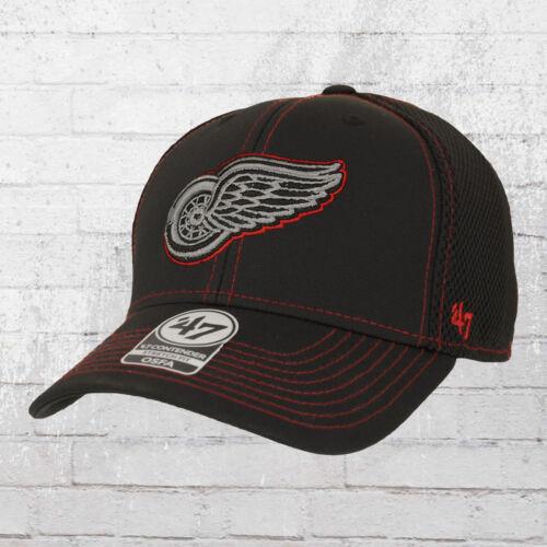 47 Brands stronaut Contender Detroit Red Wings BERRETTO NERO FLEX Full Cap Berretto