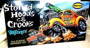 STONED HOODS & CROOKS DRAG CAR MOEBIUS MODELS 1:25 SCALE PLASTIC MODEL CAR KIT