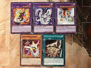 Yugioh Tournament Ready to Play Cyber Dragon 45 Card Deck Cyber End Dragon NM