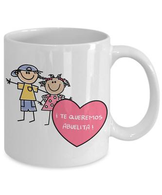 Regalo Abuelita Tazas de cafe Bonitas Niño Abuela Gifts para el Dia de las Madre