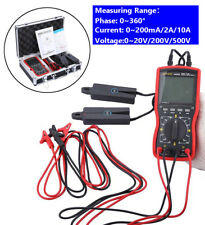 Digital Double Clamp Phase Voltmeter Phase Volt Ampere Meter 0ma10a 0500v