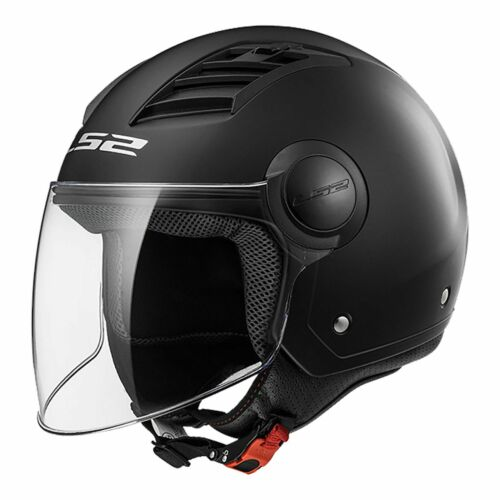 M Medium LS2 Airflow Open Face w Visor Motorbike Helmet Matt Black