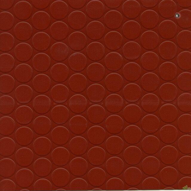 ROTOLO 25x1m 25mq COPRIPAVIMENTO COPRI PAVIMENTO BOLLATO PVC 1mm ROSSO PLASTICA
