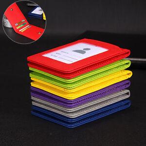 PU-Leather-Credit-Card-ID-Badge-Holder-Bus-Passes-Case-Neck-Strap-Lanyard-5slot