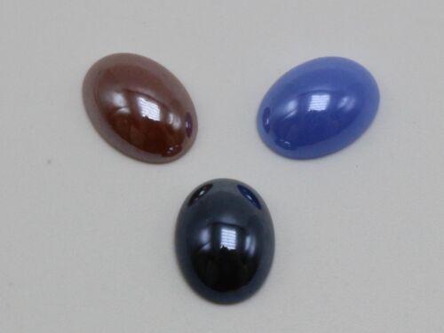100 Colores mezclados AB Cristal Oval Flatback Cabochon de cerámica 10X14mm pequeño teja de vidrio