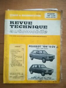 REVUE-TECHNIQUE-AUTOMOBILE-Peugeot-104-5CV-1973-a-1979