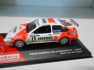 FORD SIERRA RS COSWORTH RALLY PORTUGAL 1987 SAINZ  ALTAYA IXO 1/43
