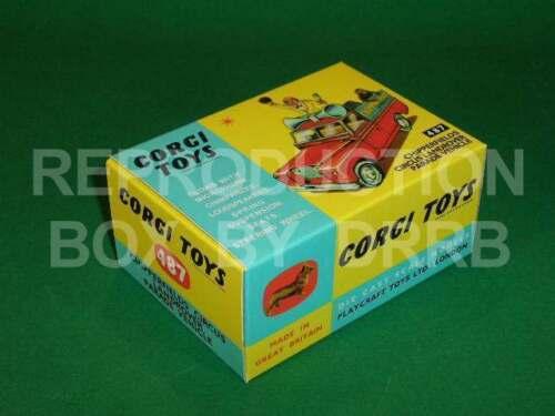 Corgi #487 Circo Land Rover desfile caja de reproducción del vehículo por drrb