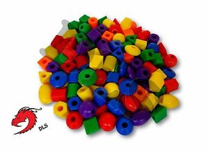 Lot of 50 jumbo assorted plastic beads bulk arts crafts for Bulk arts and crafts
