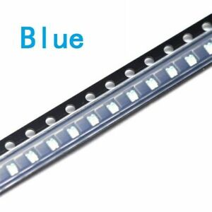 500pcs 0603 super bright blue smd led 1.6mm×0.8mm new