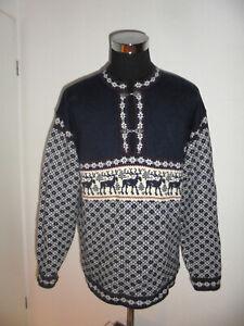 vintage-Strickpullover-handmade-in-ESTONIA-Wollpullover-Strickpulli-Pullover-XL