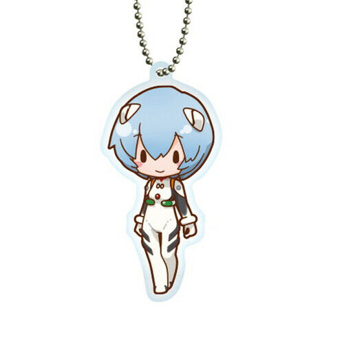 Evangelion Rei Ayanami Character Acrylic Key Chain Ball-Chain Mascot Sega V.2