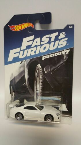 Hot Wheels 2017 Fast and The Furious '94 White Toyota Supra Paul Walker MOC New