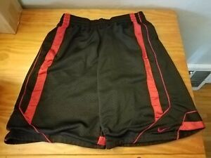 Used-Nike-Gym-Short-Basketball-Mens-Large-Black-And-Red