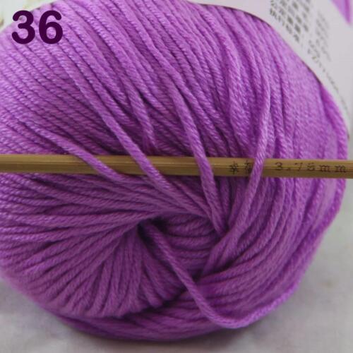 C New Fashion 1Skein x50g Cashmere Silk Wool Hand knitwear knitting Baby Yarn 36