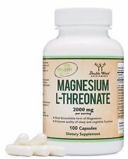 Magnesium L Threonate Capsules (Magtein)  High Absorption Supplement Most Bioav