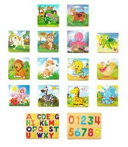 Carta-De-Madera-De-Animales-Puzzle-Rompecabezas-temprano-aprendizaje-bebe-ninos-juguetes-educativos