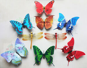 LOT-4PCS-MIXED-Butterflies-2PCS-MIXED-Dragonflies-Refrigerator-FRIDGE-MAGNET