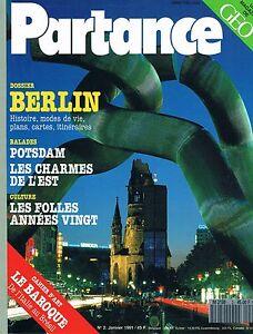Partance - N°2 - Janvier 1991 -berlin Allemagne Orientale Postdam Années 20 Art