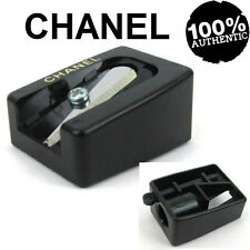 100% AUTHENTIC CHANEL SIGNATURE LOGO Black&White MAKEUP LIP EYE PENCIL SHARPENER