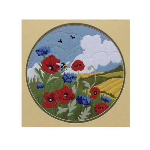 Poppies /& Cornflower AL77521 Long Stitch Kit Anchor