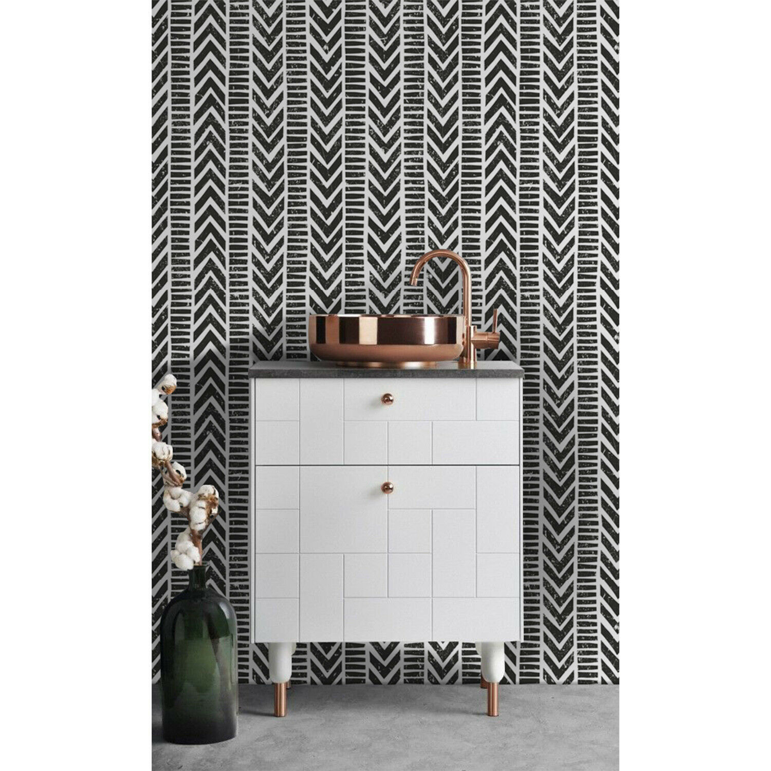 Tribal Pattern Non-Woven Wallpaper roll Geometric wall mural Simple Home decor