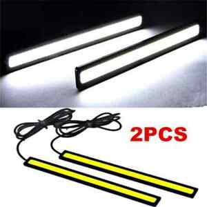 2X-Waterproof-Super-Bright-White-Car-COB-LED-Lights-DRL-Fog-Driving-Lamp-DC-12V