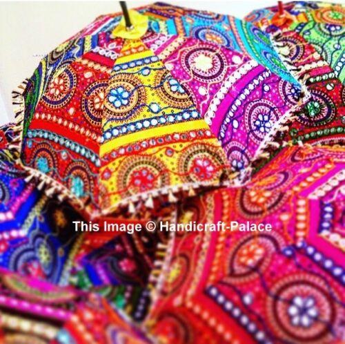 Lot of 30 Pcs Bohemian Parasols Indian Hippie Umbrellas Decor Wholesale Lot