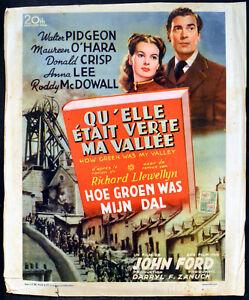 HOW-GREEN-WAS-MY-VALLEY-1941-Walter-Pidgeon-Maureen-O-039-Hara-Anna-Lee-BELGIAN