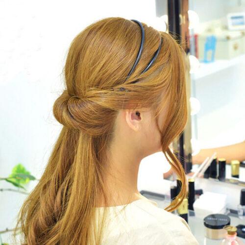 Nouveau Femmes double couche Tête Réglable Cheveux Cerceau Élastique Cheveux Corde Hair Band