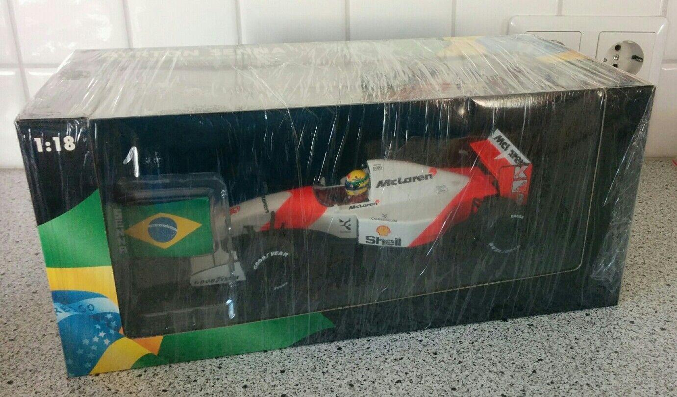 McLaren MP4 8 Ayrton Senna Winner Brazilian GP 1993 1 18 Rare