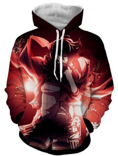 New Fashion Women//Men Attack on Titan 3D Print Casual Hoodie Sweatshirt R108