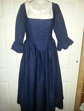 18th Century Historical Reproduction Polonaise Gown and Petticoat size 34 Bust