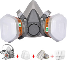 13 In 1 Facepiece Full Face Gas Mask Filter Respirator Paintingsanding Ampcutting