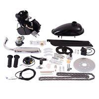 80cc 2-stroke Bicycle Gasoline Engine Motor Kit Diy Motorized Bike Black